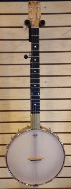 """Ouren Banjo Spalted Maple and Oak with 12"""" pot - Locally Made"""